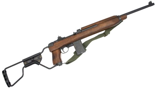 1941 M1A1 Paratrooper Carbine, folding stock and canvas sling