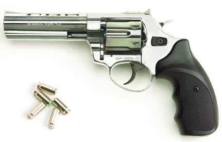 Viper 9mm Magnum-style revolver, 4.5-inch barrel, black checkered grip